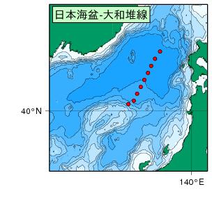 気象庁 | 海洋気象観測船 日本海盆-大和堆線の観測結果(亜硝酸塩)