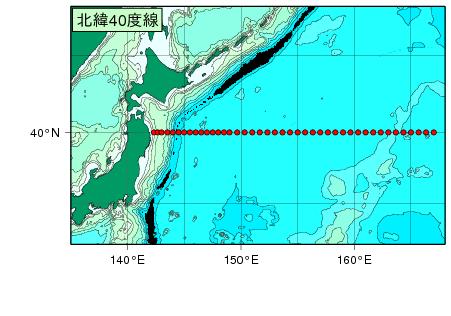 気象庁 | 海洋気象観測船 北緯40度線の観測結果(全炭酸)