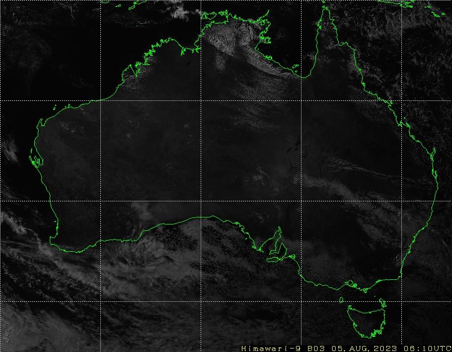 HIMAWARI - Αυστραλία - ορατό