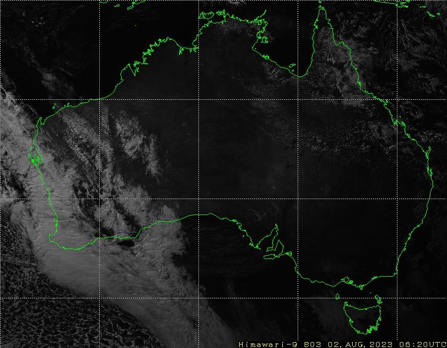 HIMAWARI - Austrálie - viditelné