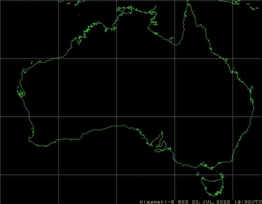 Himawari - Australien - synligt