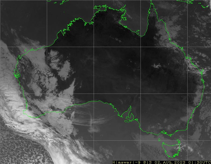 HIMAWARI - Australia - infraroşu