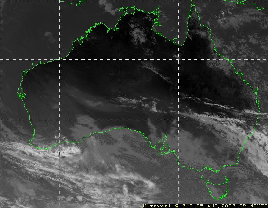 HIMAWARI - Australija - infraraudonųjų spindulių