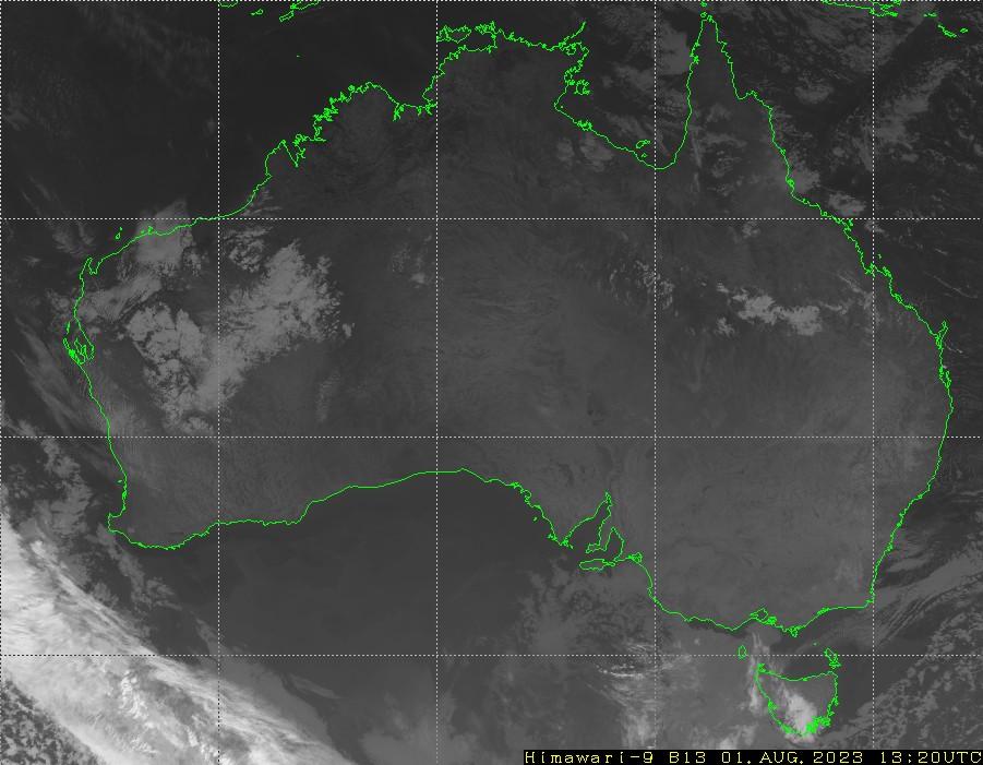 HIMAWARI - أستراليا - أشعة تحت الحمراء