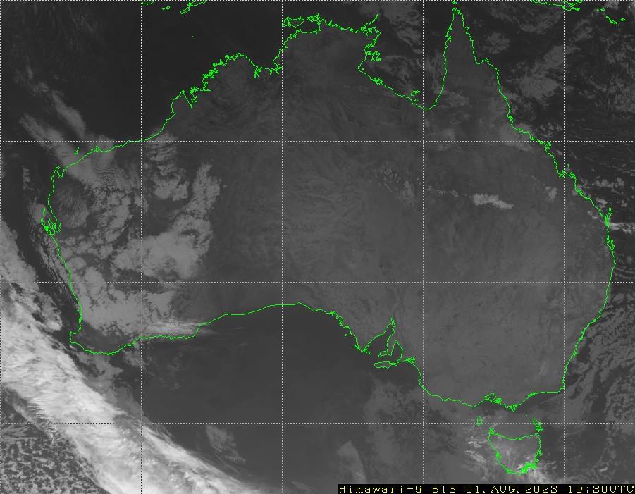 HIMAWARI - Australië - infrarood
