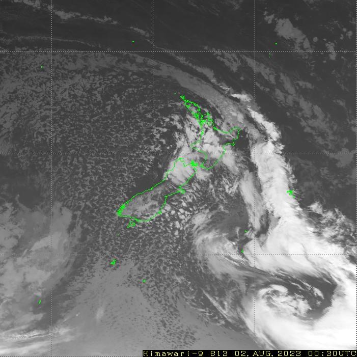 HIMAWARI - Nueva Zelanda - infrarroja