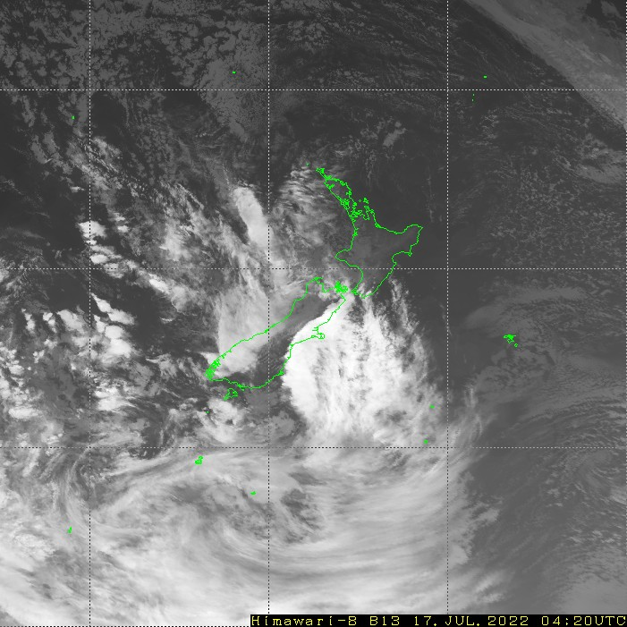 HIMAWARI - Nova Zelanda - infraroja