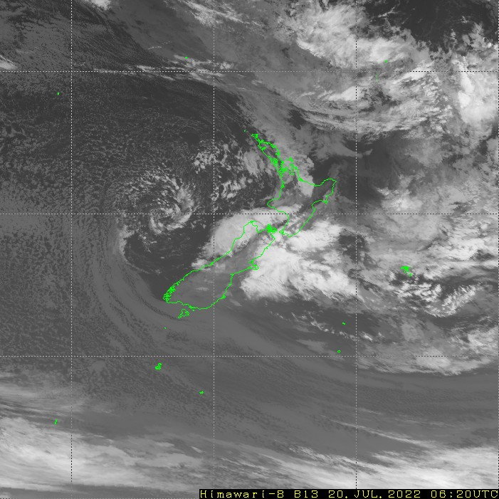 HIMAWARI - Nový Zéland - infračervené