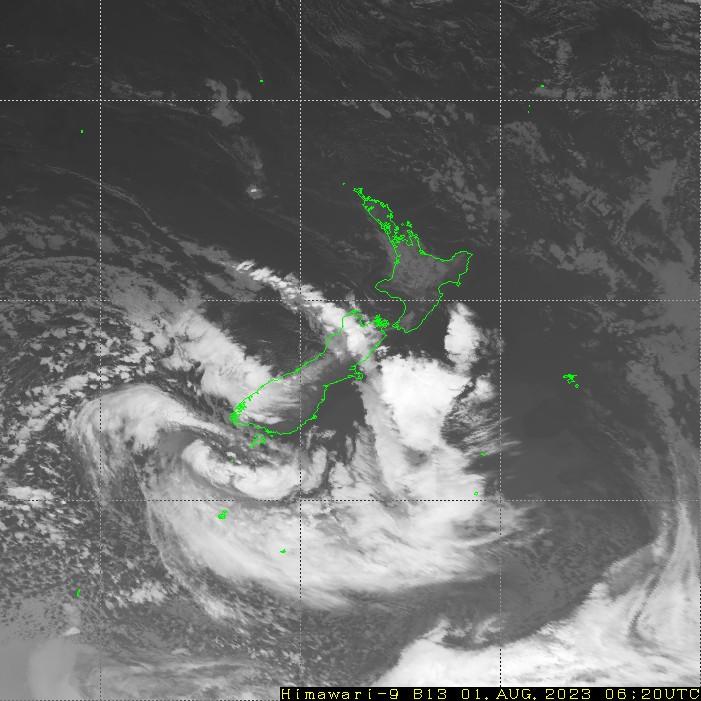 HIMAWARI - Nowa Zelandia - podczerwień