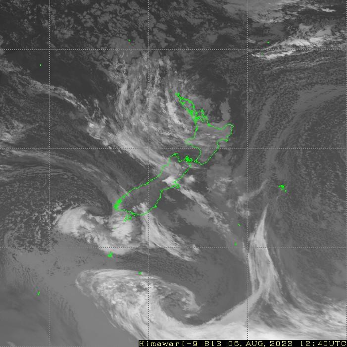 HIMAWARI - Naujoji Zelandija - infraraudonųjų spindulių