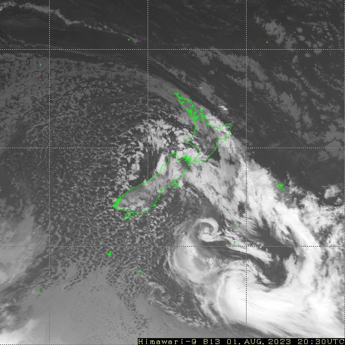 Himawari - Nya Zeeland - infrarött