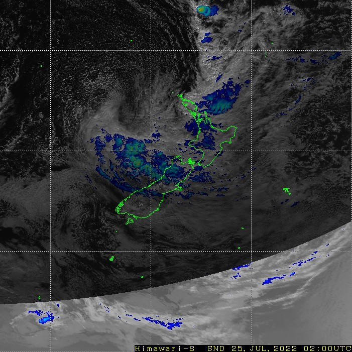 Infrared satellite imagery for 3:00pm on 26 January 2021