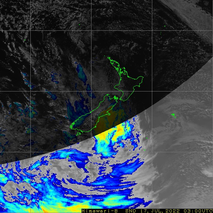 Infrared satellite imagery for 4:00pm on 26 January 2021