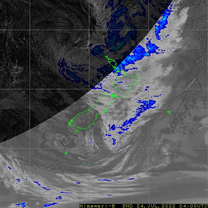 Infrared satellite imagery for 4:00pm on 17 April 2021