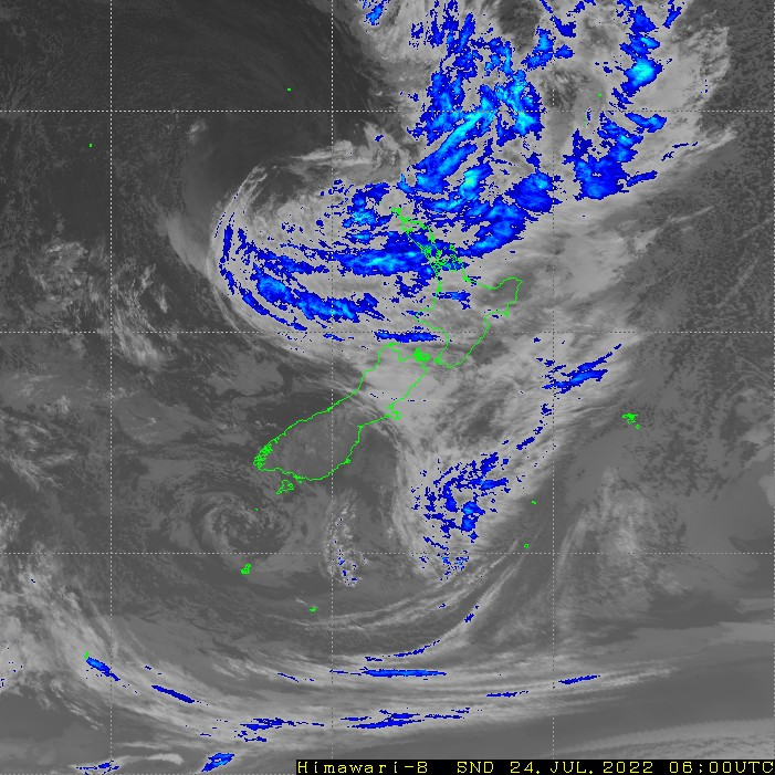 Infrared satellite imagery for 6:00pm on 17 April 2021