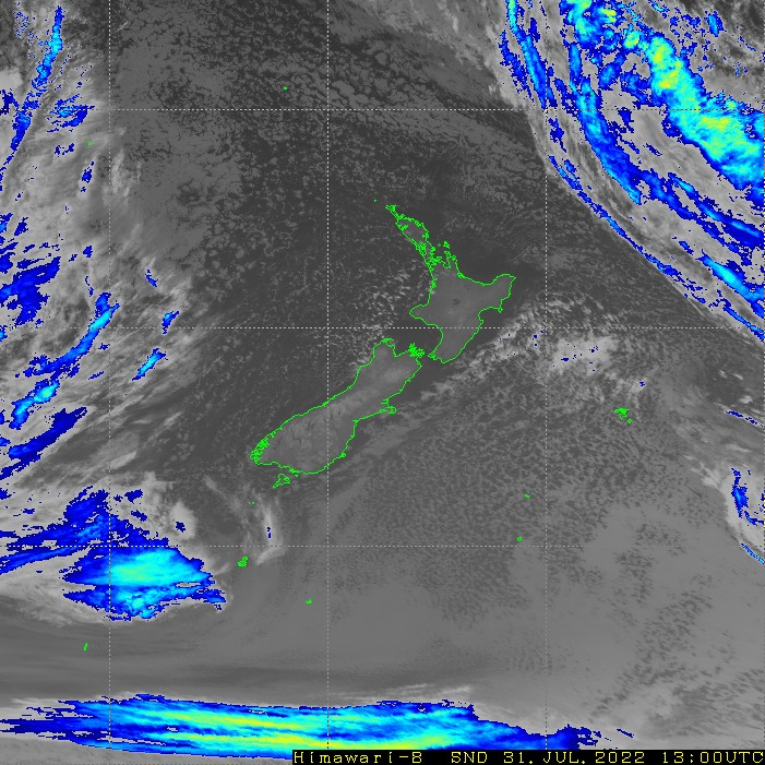 Infrared satellite imagery for 2:00am on 25 October 2021