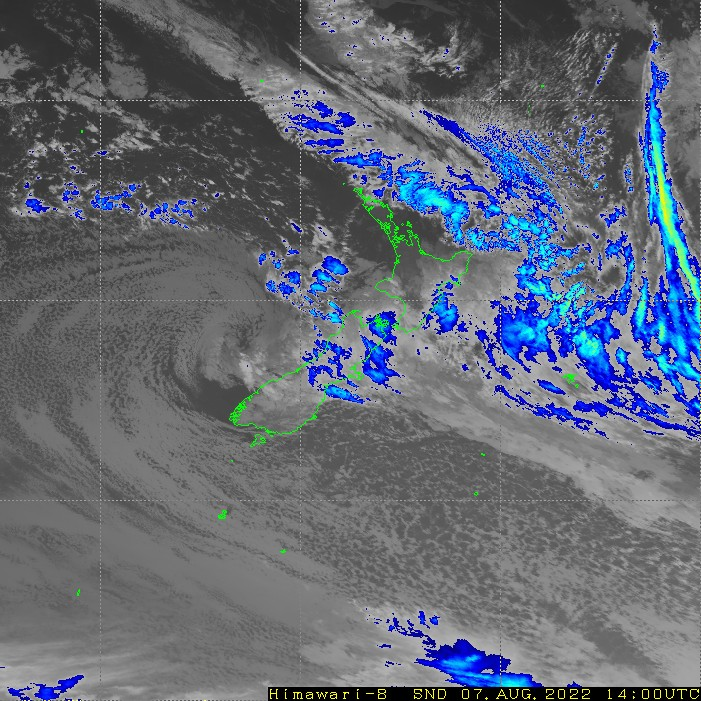 Infrared satellite imagery for 3:00am on 24 October 2021