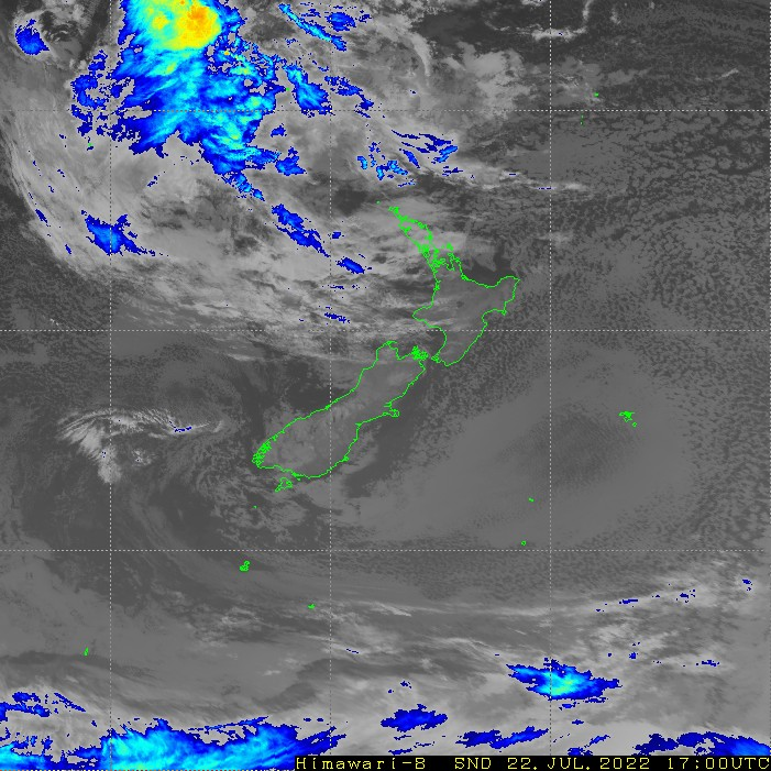 Infrared satellite imagery for 5:00am on 21 September 2020