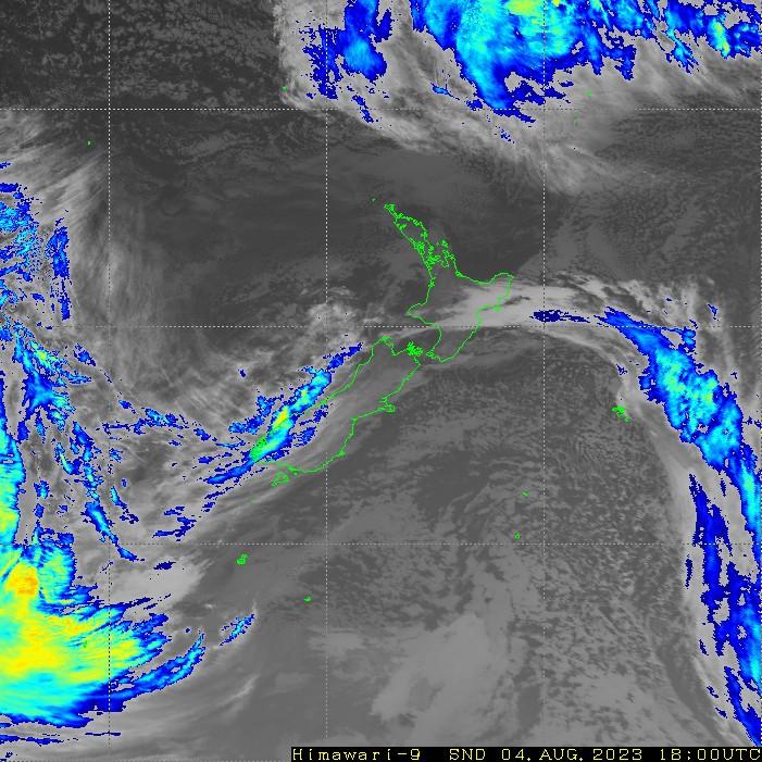 Infrared satellite imagery for 7:00am on 23 November 2020
