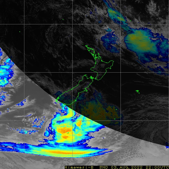Infrared satellite imagery for 11:00am on 27 February 2021