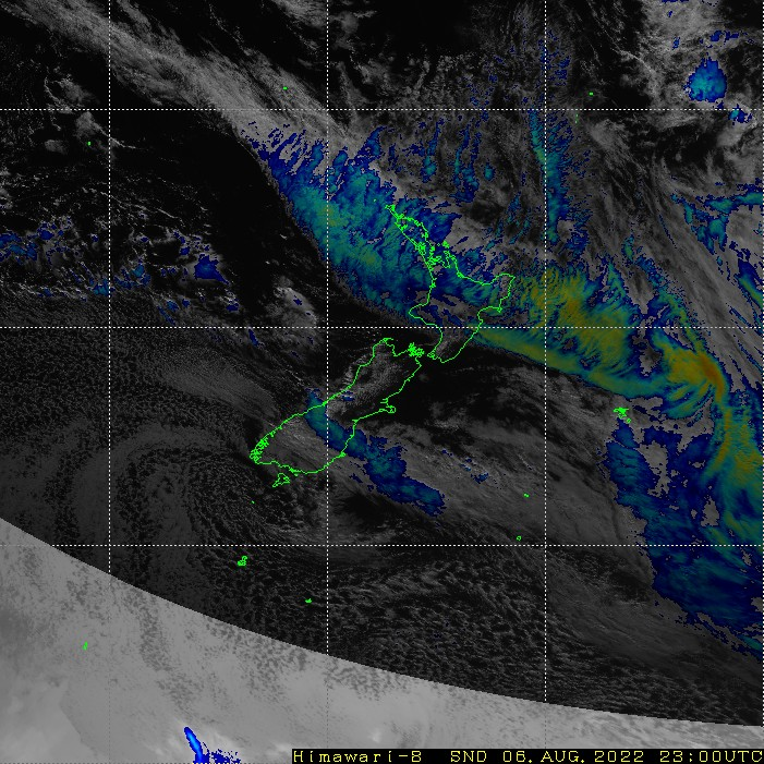 Infrared satellite imagery for 12:00pm on 26 February 2021