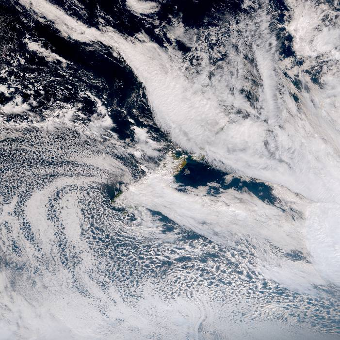 True colour satellite imagery for 3:00pm on 26 January 2021
