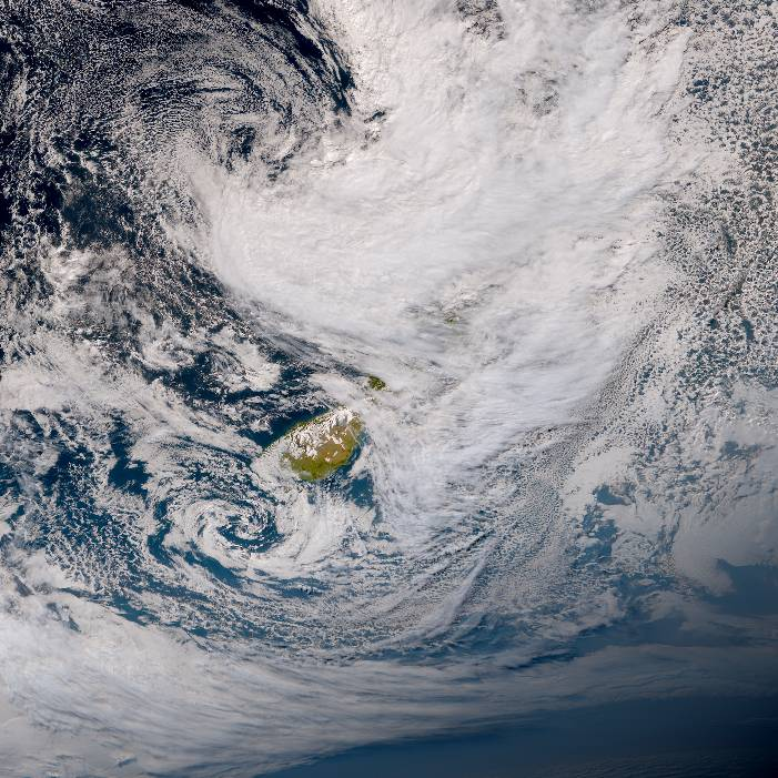 True colour satellite imagery for 4:00pm on 26 January 2021