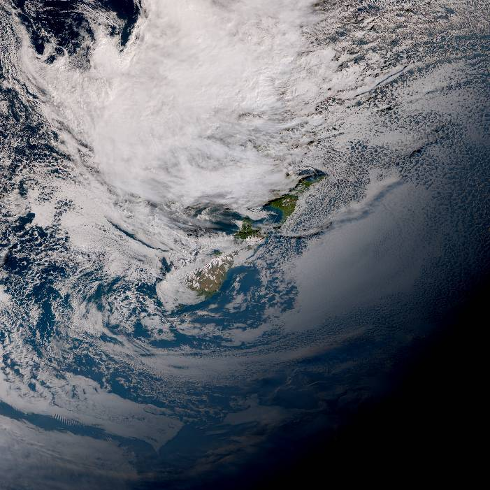 True colour satellite imagery for 4:00pm on 17 April 2021