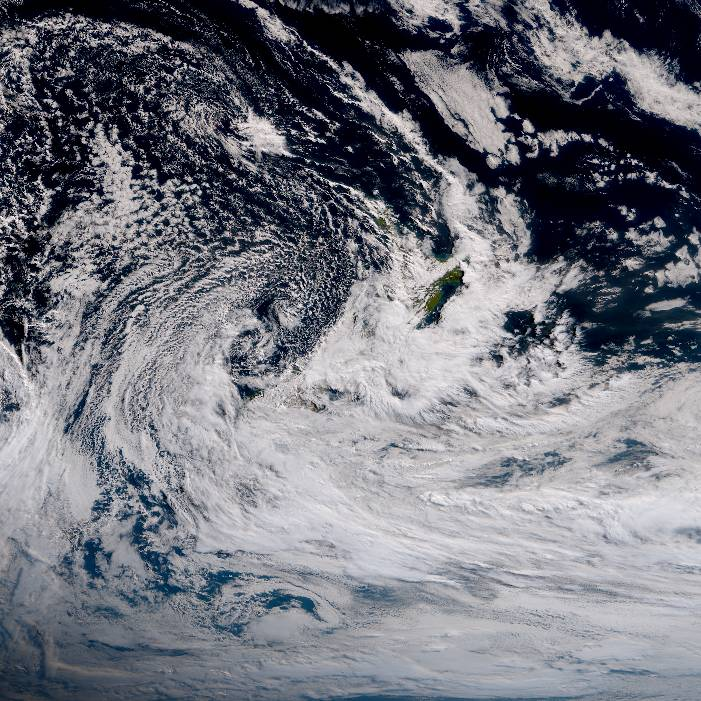 True colour satellite imagery for 12:00pm on 26 February 2021