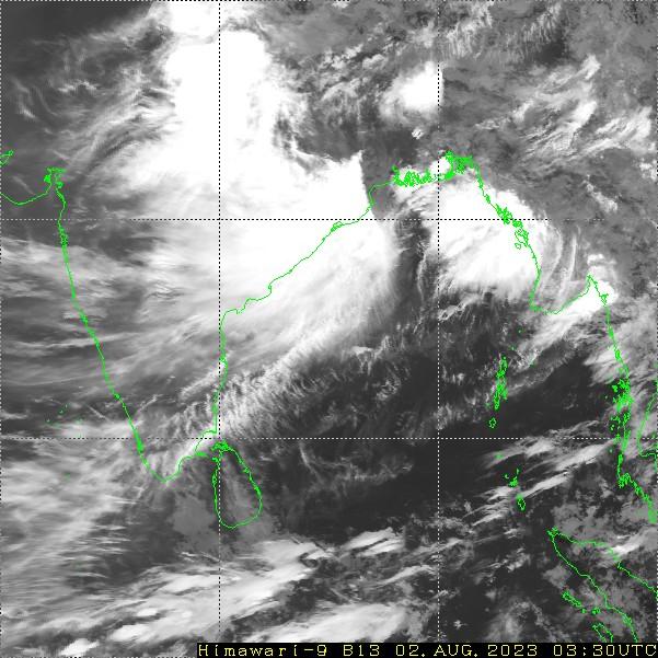 HIMAWARI - Indija - infraraudonųjų spindulių