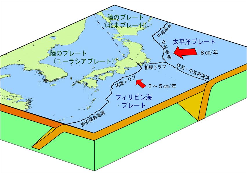 気象庁   地震発生のしくみ