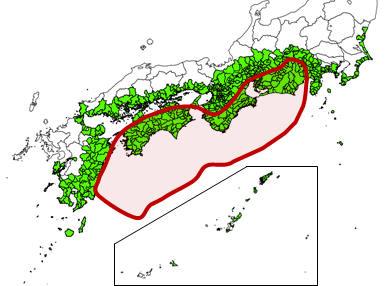 南海トラフ地震防災対策推進地域