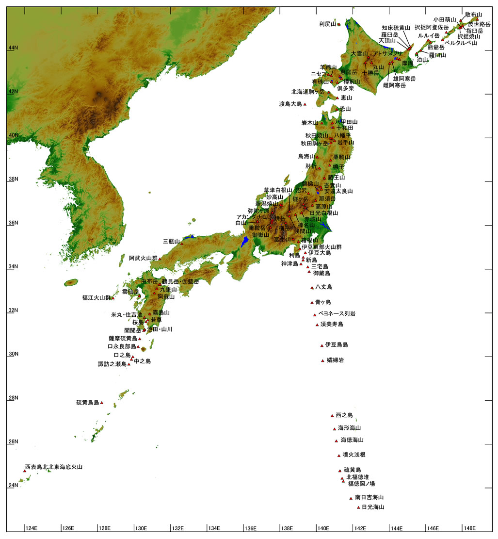 日本 日本地図 pdf : 気象庁|日本活火山総覧(第4 ...
