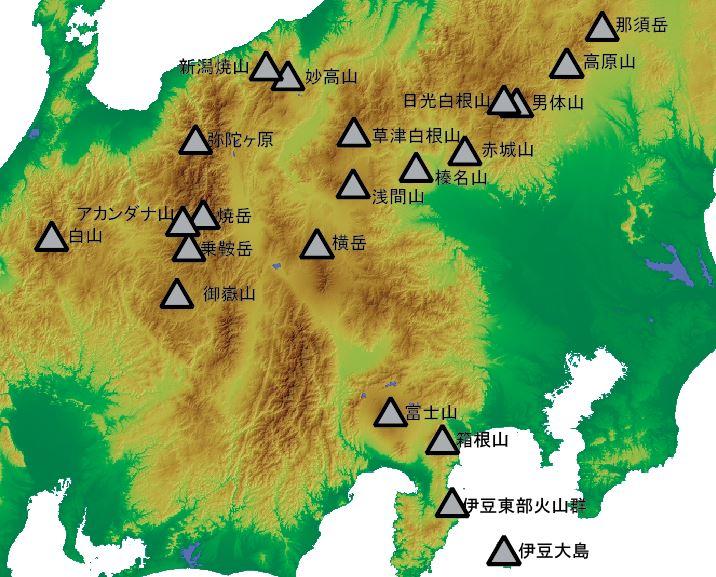 すべての講義 世界の山脈 地図 : ... 点の座標は世界測地系による